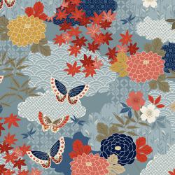 """Ткань для пэчворк 1856B из коллекции """"Japanese Garden"""" """"Makower UK"""""""