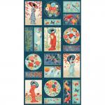 """Ткань для пэчворк 2337 панно из коллекции """"Michiko"""" """"Makower UK"""""""