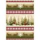 "Ткань фланель (60x110см) 3002-R из коллекции ""Wonder of winter"" ""Maywood"" (США)"
