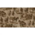 "Ткань для пэчворк (50x55см) 8104-A из коллекции ""Workin the west"" ""Maywood""(США)"