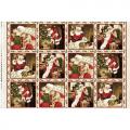 "Ткань для пэчворк (75x110см) 8110-E из коллекции ""Santa Claus"" ""Maywood""(США)"