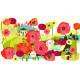 """Ткань для пэчворк (60x110см) 960W из коллекции """"Always blooming"""" """"P&B""""(США)"""