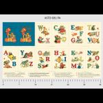 "Ткань для пэчворк (60x110см) 691PA из коллекции ""Alphabet Story"" ""P&B""(США)"