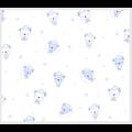 """Ткань фланель (100x110см) 26546LTBLU1F из коллекции """"Beaux Bebe Flannel"""" """"P&B""""(США)"""