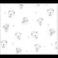 """Ткань фланель (100x110см) 26546LTGRY1F из коллекции """"Beaux Bebe Flannel"""" """"P&B""""(США)"""