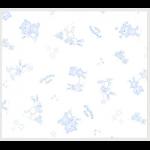 """Ткань фланель (100x110см) 26547BLU1F из коллекции """"Beaux Bebe Flannel"""" """"P&B""""(США)"""