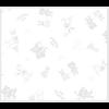 """Ткань фланель (100x110см) 26547GRY1F из коллекции """"Beaux Bebe Flannel"""" """"P&B""""(США)"""