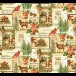 "Ткань для пэчворк (60x110см) 270MU из коллекции ""Christmas memories"" ""P&B""(США)"
