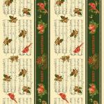 "Ткань для пэчворк (60x110см) 271MU из коллекции ""Christmas memories"" ""P&B""(США)"
