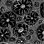 "Ткань для пэчворк (60x110см) 443K из коллекции ""Привет, георгин!"" ""P&B""(США)"