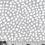"Ткань для пэчворк (50x55см) 447S из коллекции ""Привет, георгин!"" ""P&B""(США)"
