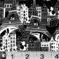 """Ткань для пэчворк (60x110см) 760K из коллекции """"Illustrations"""" """"P&B""""(США)"""