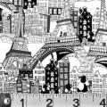 """Ткань для пэчворк (60x110см) 760W из коллекции """"Illustrations"""" """"P&B""""(США)"""