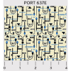 """Ткань для пэчворк (50x55см) 637E из коллекции """"Portcity"""" """"P&B""""(США)"""