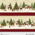 """Ткань для пэчворк (60x110см) 26709MUL из коллекции """"Winters friends"""" """"P&B""""(США)"""