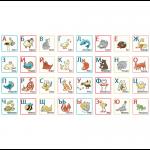 """Ткань для пэчворк (60x110см) ГР-01 из коллекции """"Грамотейка"""" """"Peppy"""""""