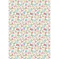 """Ткань для пэчворк (50x55см) ГР-03 из коллекции """"Грамотейка"""" """"Peppy"""""""