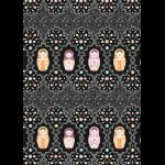 """Ткань для пэчворк (50x55см) КМ-03 из коллекции """"Крошки-Матрёшки"""" """"Peppy"""""""
