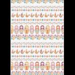"""Ткань для пэчворк (50x55см) КМ-08 из коллекции """"Крошки-Матрёшки"""" """"Peppy"""""""