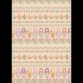 """Ткань для пэчворк (50x55см) КМ-10 из коллекции """"Крошки-Матрёшки"""" """"Peppy"""""""