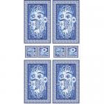 "Ткань для пэчворк (60x110см) ЛЧ-01 из коллекции ""Лазурное чудо"" ""Peppy"""
