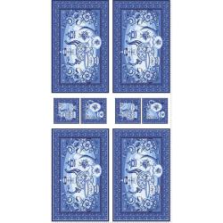 "Ткань для пэчворк (60x110см) ЛЧ-03 из коллекции ""Лазурное чудо"" ""Peppy"""