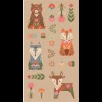"""Ткань для пэчворк (60x110см) ЛЖ-01 из коллекции """"Лесные жители"""" """"Peppy"""""""