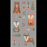 """Ткань для пэчворк (60x110см) ЛЖ-03 из коллекции """"Лесные жители"""" """"Peppy"""""""