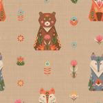 """Ткань для пэчворк (50x55см) ЛЖ-04 из коллекции """"Лесные жители"""" """"Peppy"""""""