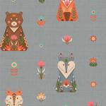 """Ткань для пэчворк (50x55см) ЛЖ-06 из коллекции """"Лесные жители"""" """"Peppy"""""""