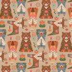 """Ткань для пэчворк (50x55см) ЛЖ-10 из коллекции """"Лесные жители"""" """"Peppy"""""""