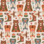 """Ткань для пэчворк (50x55см) ЛЖ-11 из коллекции """"Лесные жители"""" """"Peppy"""""""