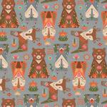 """Ткань для пэчворк (50x55см) ЛЖ-12 из коллекции """"Лесные жители"""" """"Peppy"""""""
