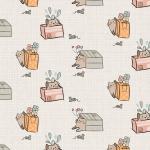 """Ткань для пэчворк (50x55см) МП-10 из коллекции """"Мартовская песня"""" """"Peppy"""""""