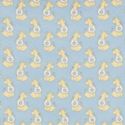 """Ткань фланель (100x110см) МС-01 голубая из коллекции """"Молочные сны"""" """"Peppy"""""""