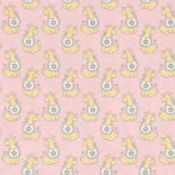 """Ткань фланель (100x110см) МС-02 розовая из коллекции """"Молочные сны"""" """"Peppy"""""""