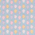 """Ткань фланель (100x110см) МС-04 голубая из коллекции """"Молочные сны"""" """"Peppy"""""""