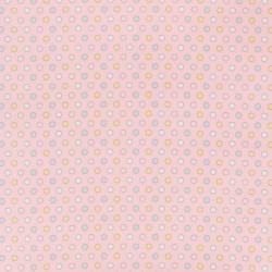"""Ткань фланель (100x110см) МС-08 розовая из коллекции """"Молочные сны"""" """"Peppy"""""""