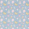 """Ткань фланель (100x110см) МС-16 голубая из коллекции """"Молочные сны"""" """"Peppy"""""""