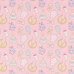 """Ткань фланель (100x110см) МС-17 розовая из коллекции """"Молочные сны"""" """"Peppy"""""""