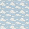 """Ткань фланель (100x110см) МС-19 голубая из коллекции """"Молочные сны"""" """"Peppy"""""""