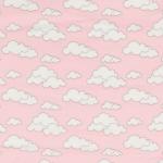 """Ткань фланель (100x110см) МС-20 розовая из коллекции """"Молочные сны"""" """"Peppy"""""""