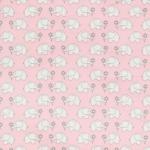 """Ткань фланель (100x110см) МС-23 розовая из коллекции """"Молочные сны"""" """"Peppy"""""""