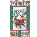 """Ткань для пэчворк (60x110см) НЧ-01 из коллекции """"Новогодние чудеса"""" """"Peppy"""""""