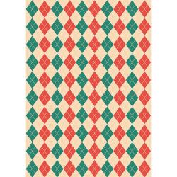 """Ткань для пэчворк (50x55см) НЧ-11 из коллекции """"Новогодние чудеса"""" """"Peppy"""""""