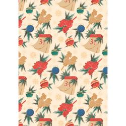 """Ткань для пэчворк НЧ-14 из коллекции """"Новогодние чудеса"""" """"Peppy"""""""