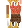 """Ткань для пэчворк (60x110см) РТ-01 из коллекции """"Русские традиции"""" """"Peppy"""""""