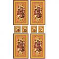 """Ткань для пэчворк (60x110см) РТ-04 из коллекции """"Русские традиции"""" """"Peppy"""""""