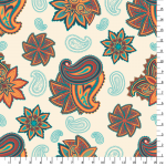 """Ткань для пэчворк (50x55см) СВ-13 из коллекции """"Сказочный восток"""" """"Peppy"""""""