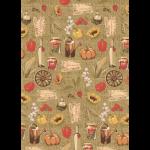 """Ткань для пэчворк (50x55см) УУ-04 из коллекции """"Удачный урожай"""" """"Peppy"""""""